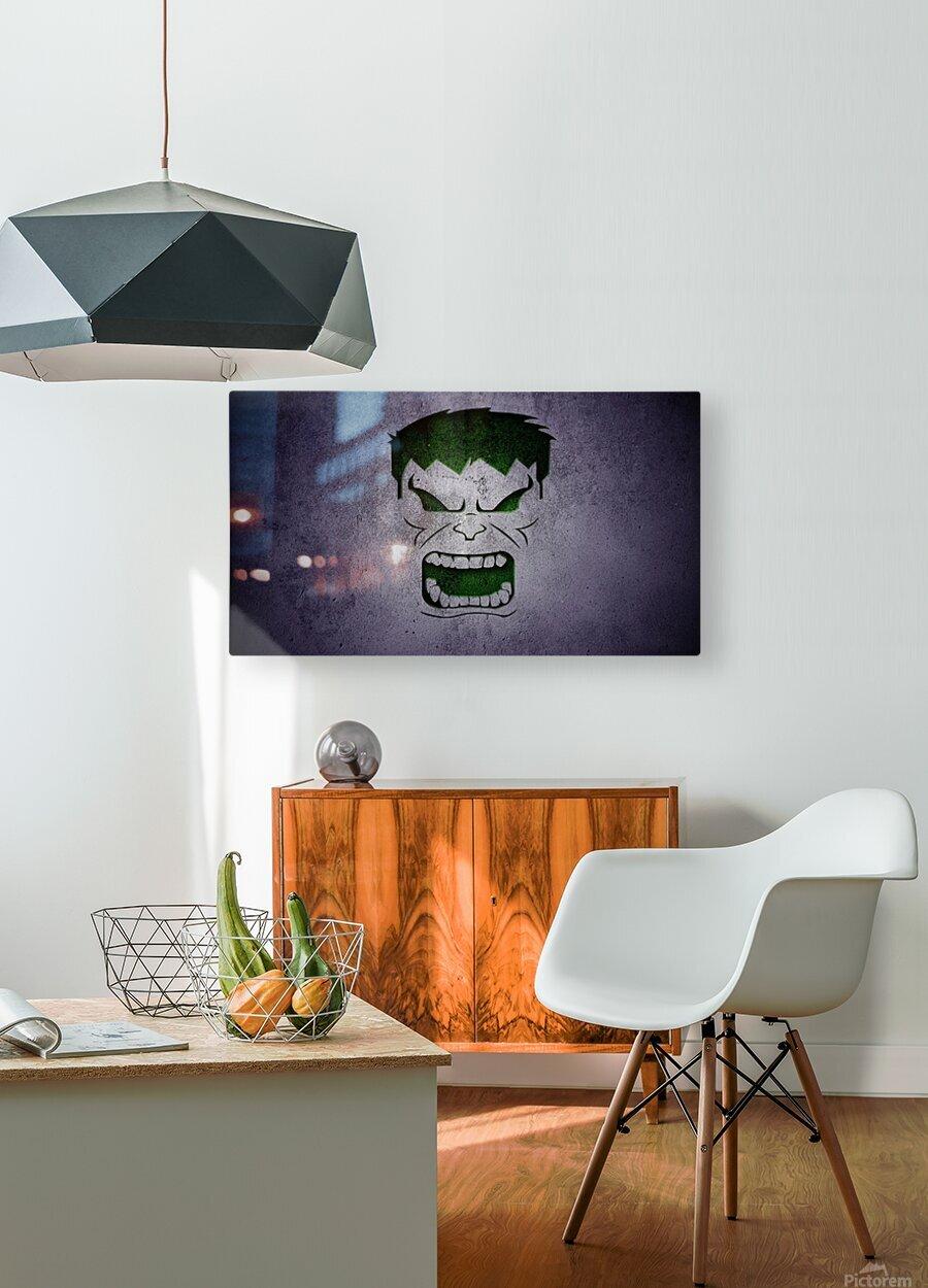 H-ulk  HD Metal print with Floating Frame on Back