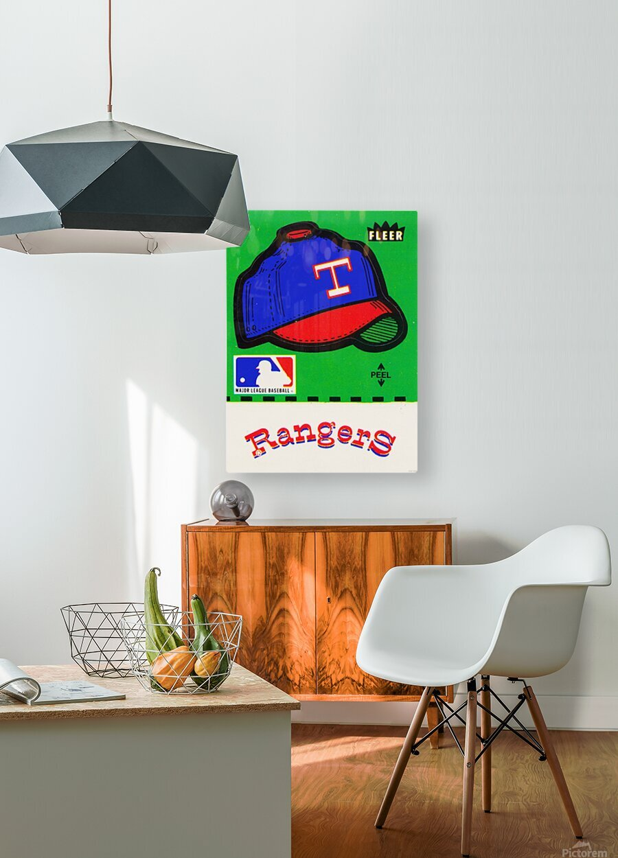 1981 Texas Rangers Decal Art  HD Metal print with Floating Frame on Back