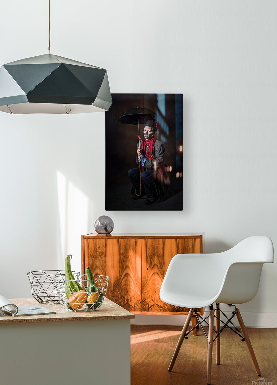 Auguste et attente  HD Metal print with Floating Frame on Back