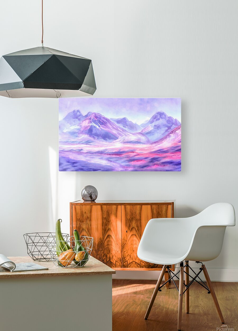 Mount Fairweather Canada  HD Metal print with Floating Frame on Back