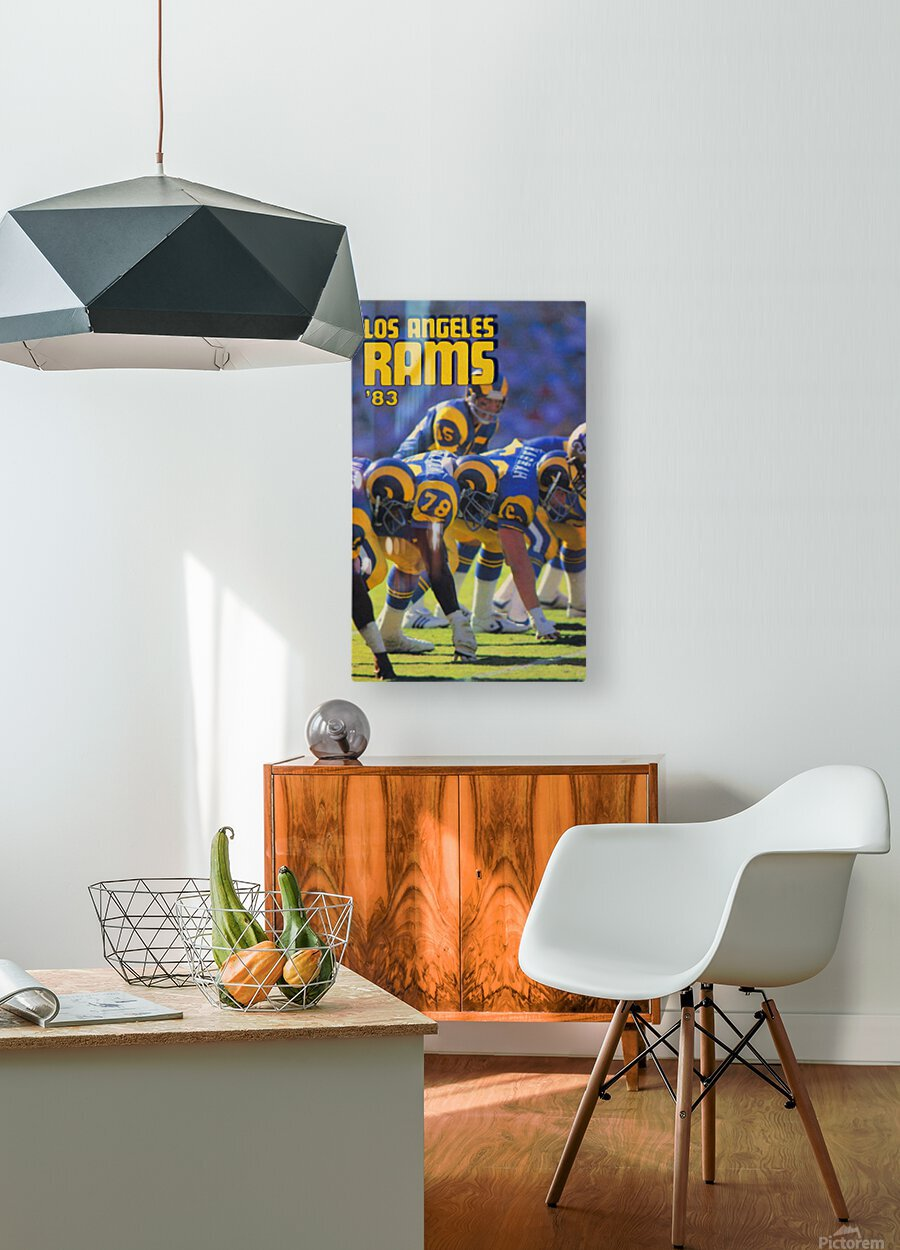1983 Los Angeles Rams  HD Metal print with Floating Frame on Back