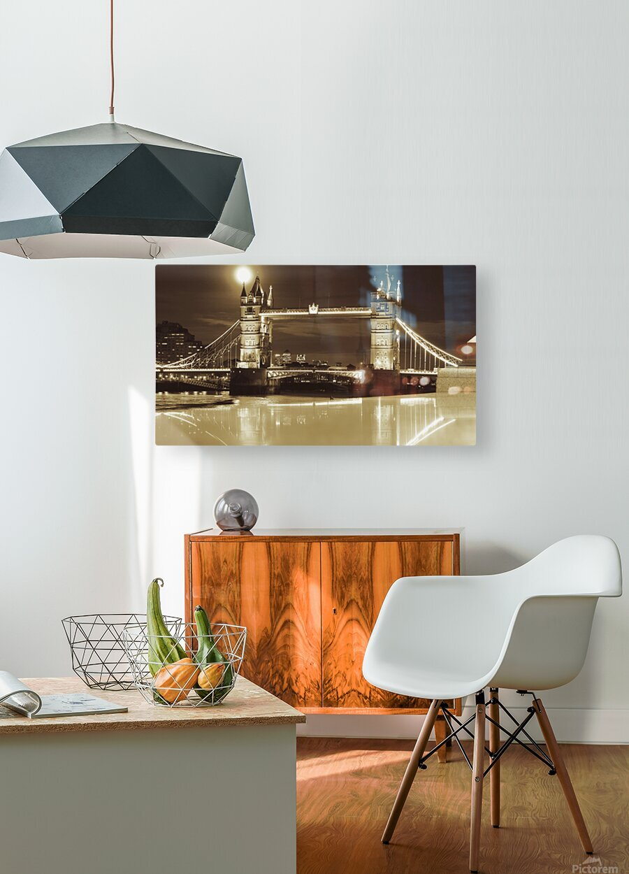 Vintage Tower Bridge - london   HD Metal print with Floating Frame on Back