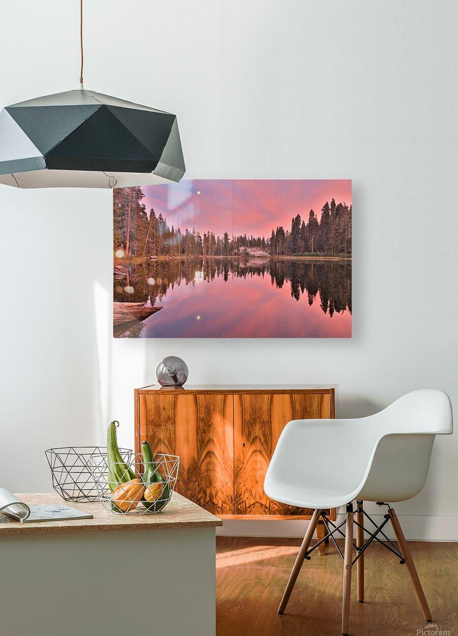Azalea Sunset  HD Metal print with Floating Frame on Back