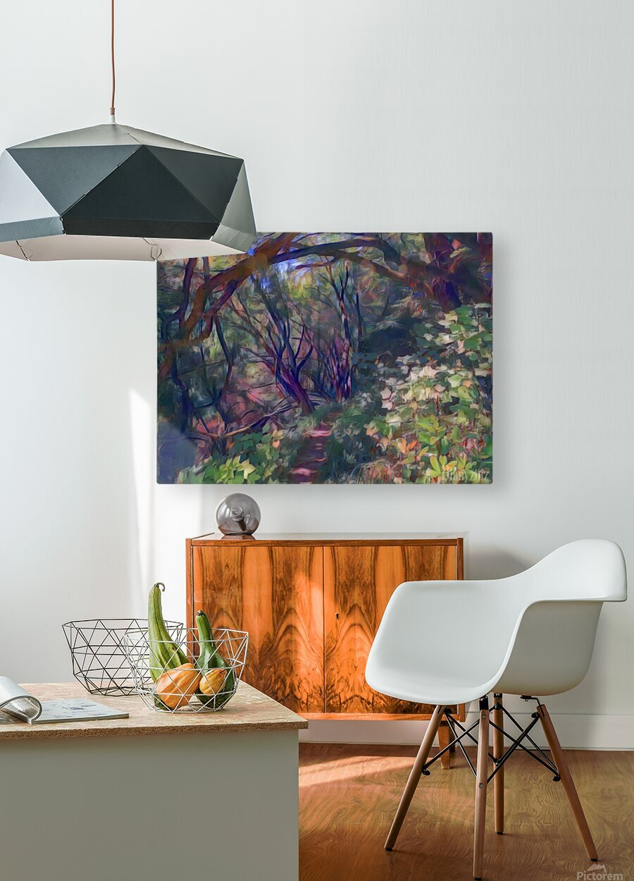 Arch of trees  HD Metal print with Floating Frame on Back