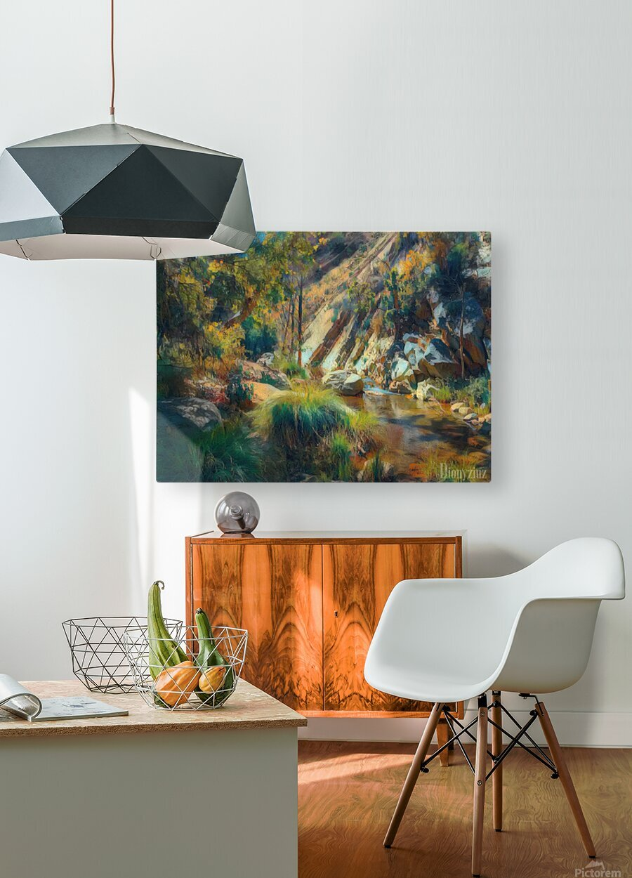 Ojai canyons  HD Metal print with Floating Frame on Back