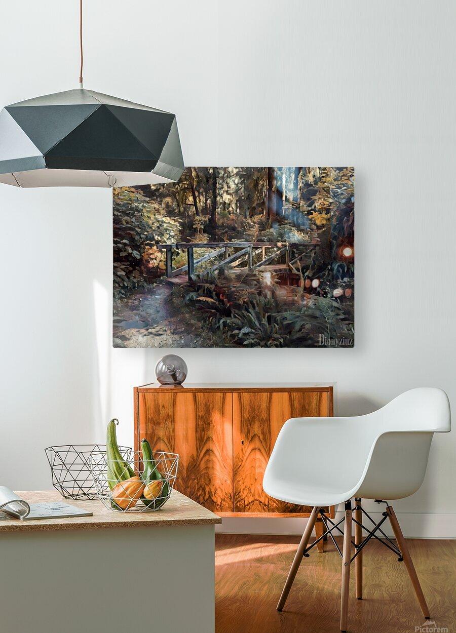 Redwood forrest  HD Metal print with Floating Frame on Back