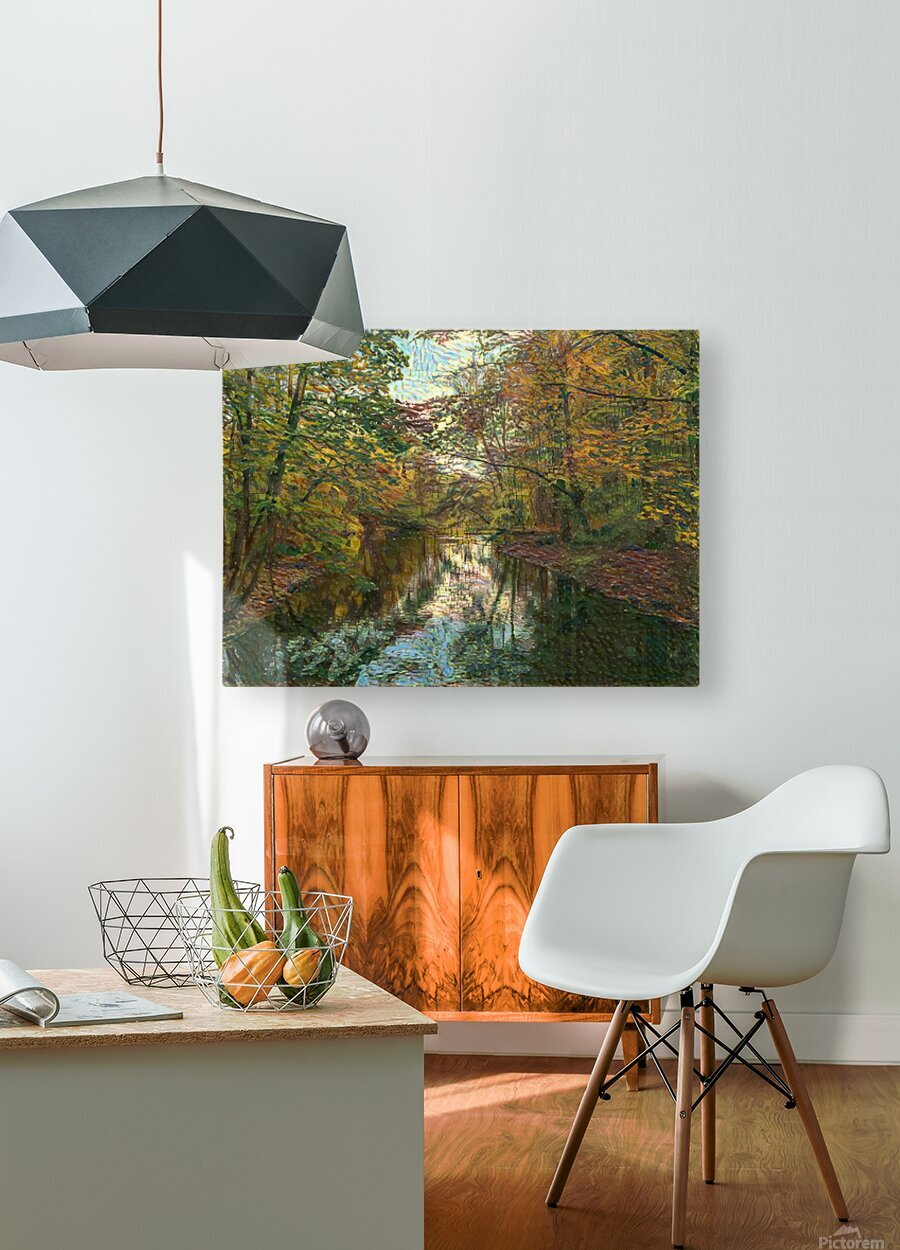 Autumn forrest  HD Metal print with Floating Frame on Back