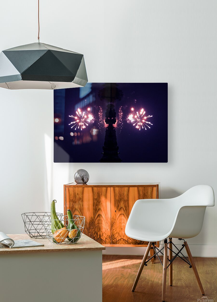Lights51  HD Metal print with Floating Frame on Back