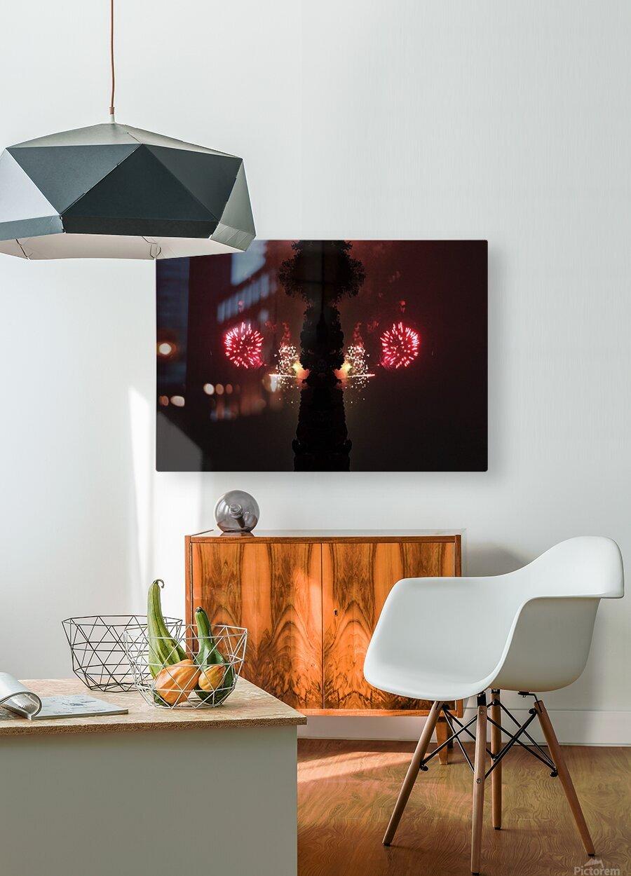 Lights54  HD Metal print with Floating Frame on Back
