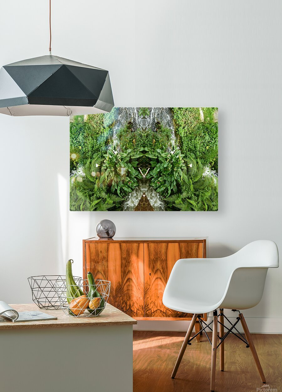 green4  HD Metal print with Floating Frame on Back