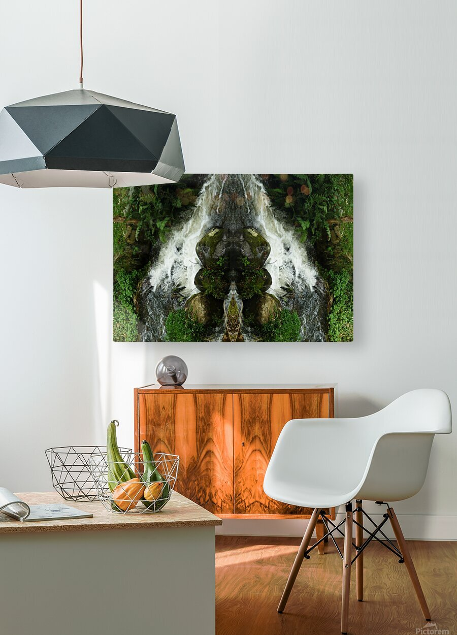 Green5  HD Metal print with Floating Frame on Back