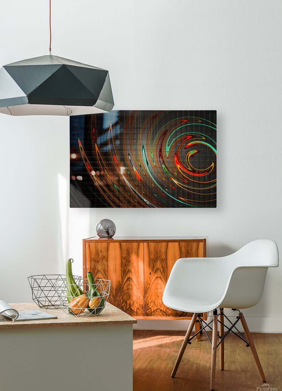 REDBONE  HD Metal print with Floating Frame on Back