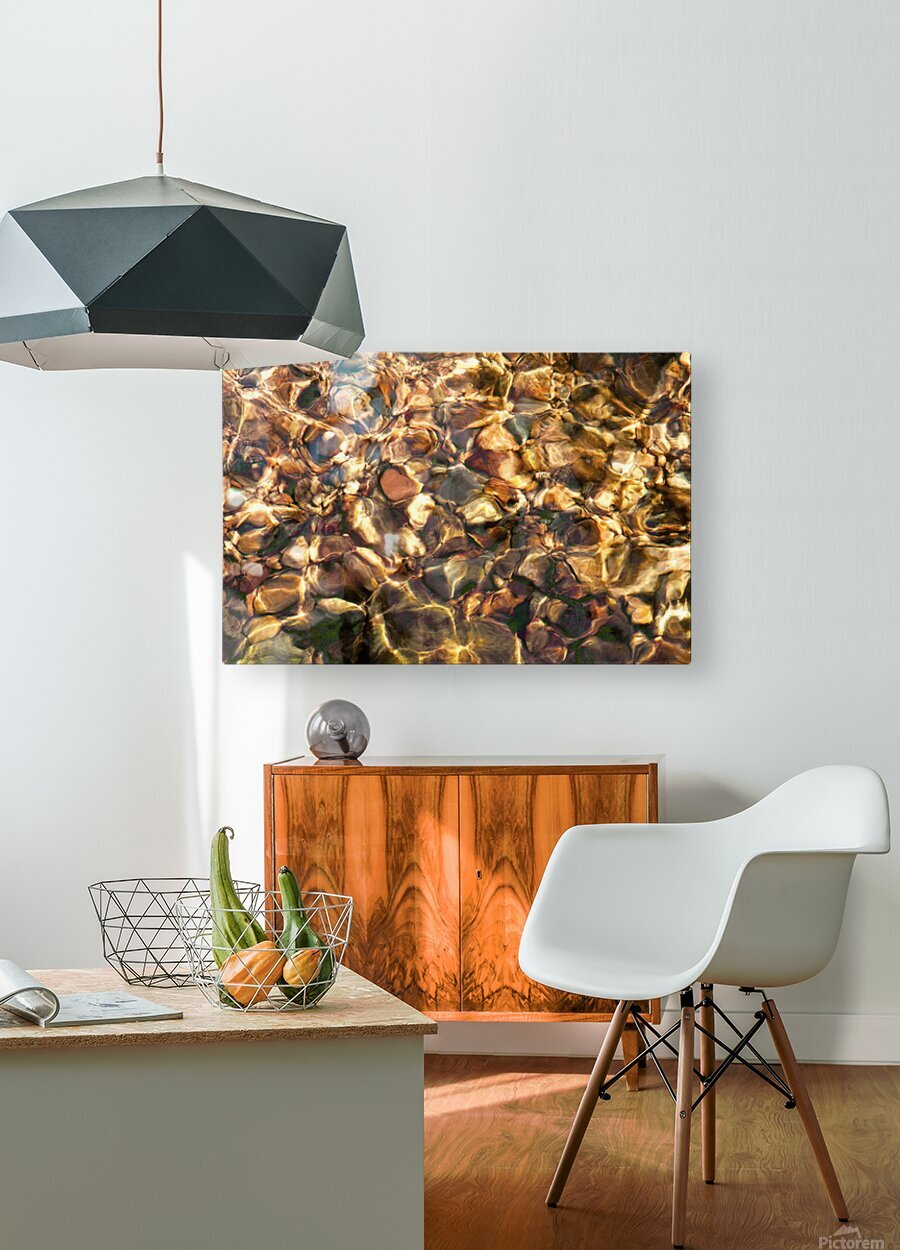 Reflex - X  HD Metal print with Floating Frame on Back