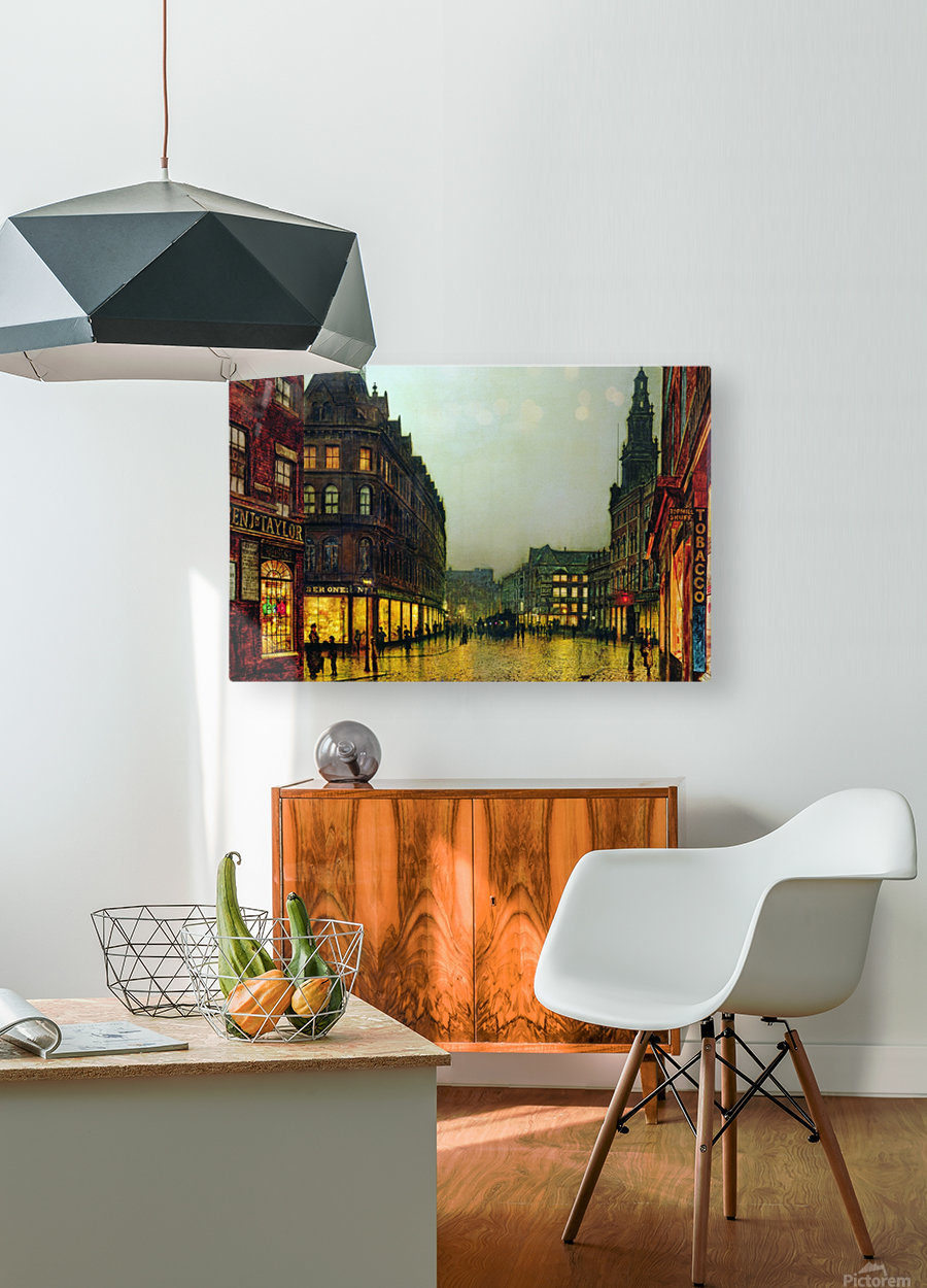 Boar Lane, Leeds  HD Metal print with Floating Frame on Back