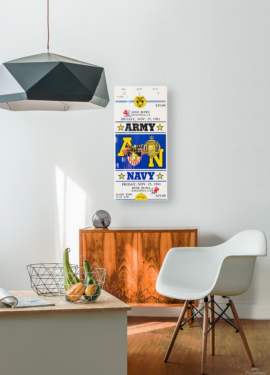 1983 Army vs. Navy  HD Metal print with Floating Frame on Back