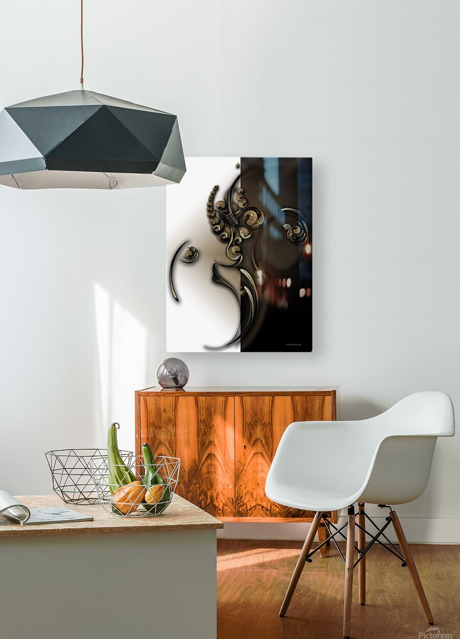 Sphere with Context  HD Metal print with Floating Frame on Back