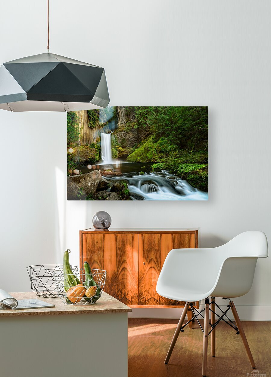 Native Flow  HD Metal print with Floating Frame on Back