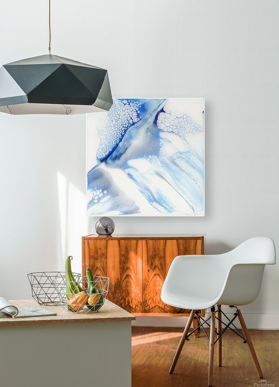 Slip  HD Metal print with Floating Frame on Back