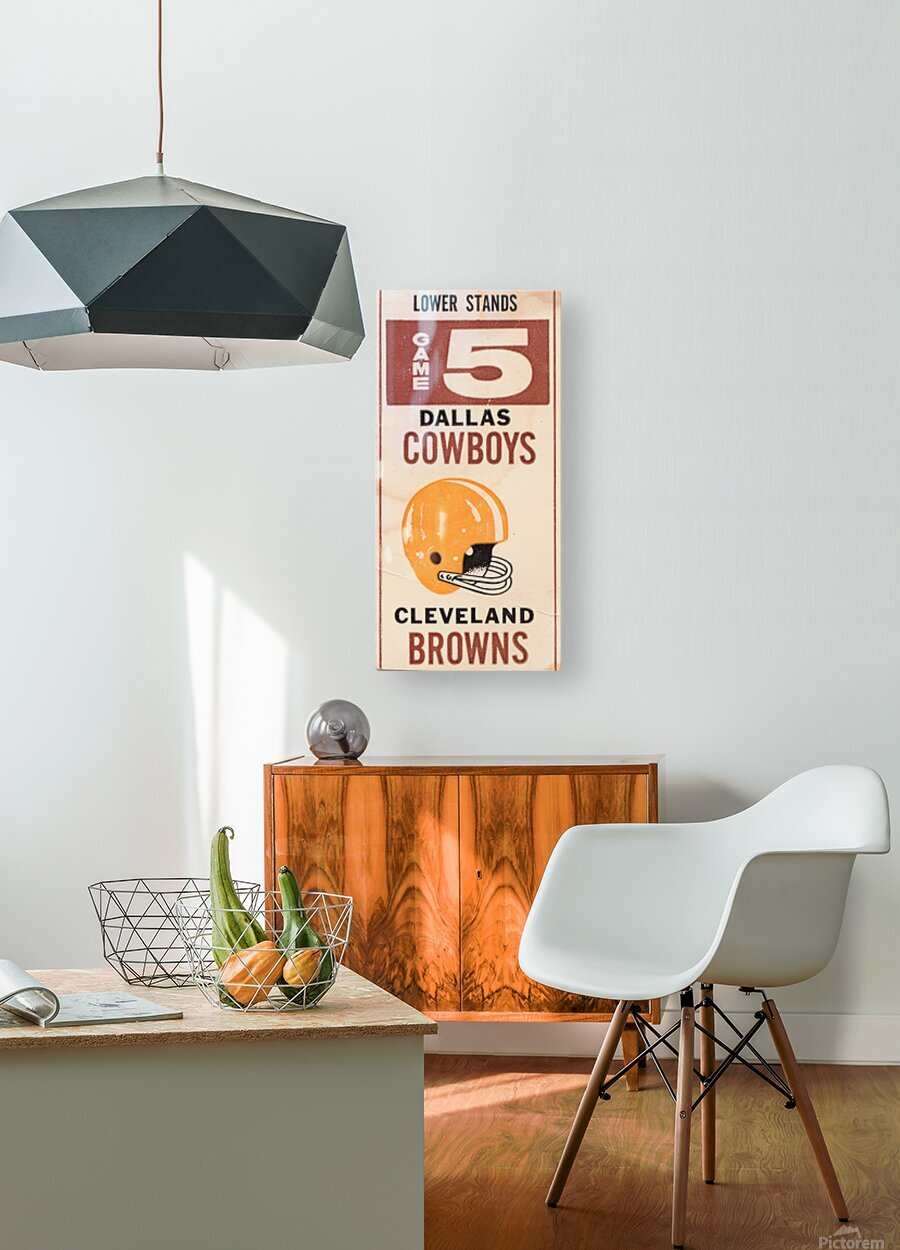 1969 Cleveland Browns vs. Dallas Cowboys  HD Metal print with Floating Frame on Back