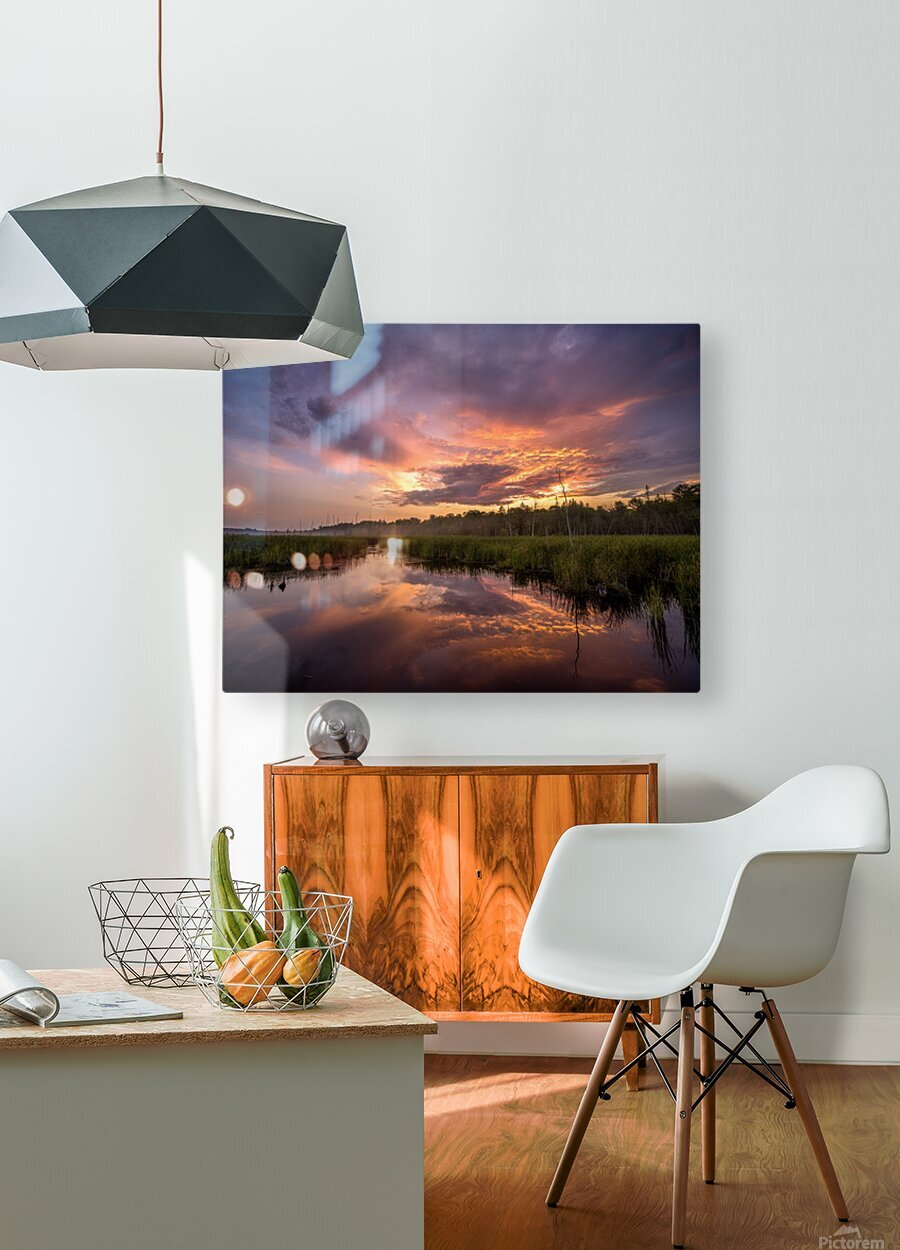 Brewing  HD Metal print with Floating Frame on Back