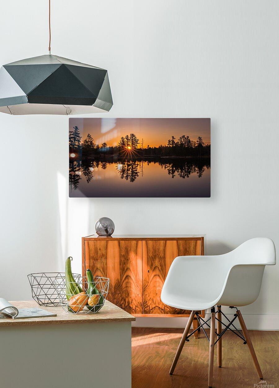 Peek Through  HD Metal print with Floating Frame on Back