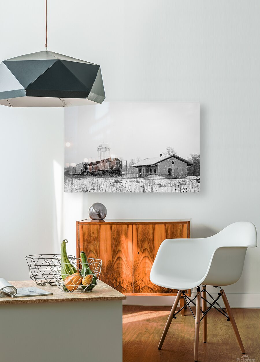Napanee Station  HD Metal print with Floating Frame on Back