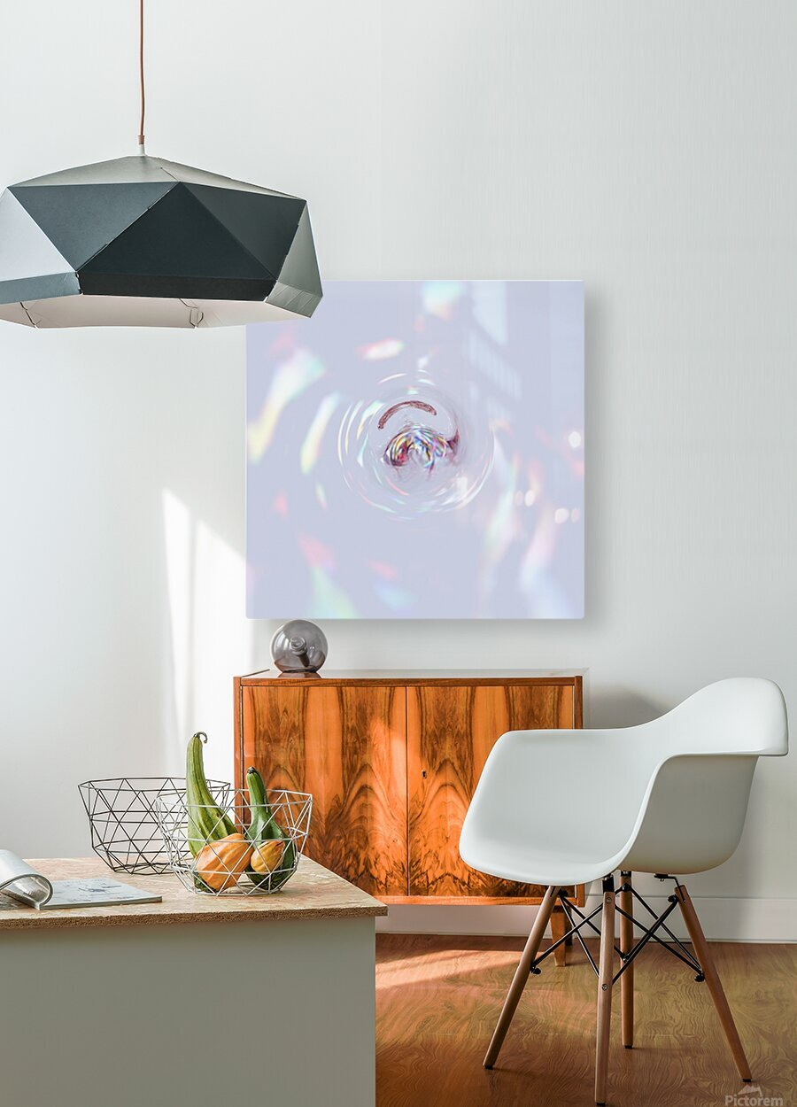 Clear Mind  HD Metal print with Floating Frame on Back