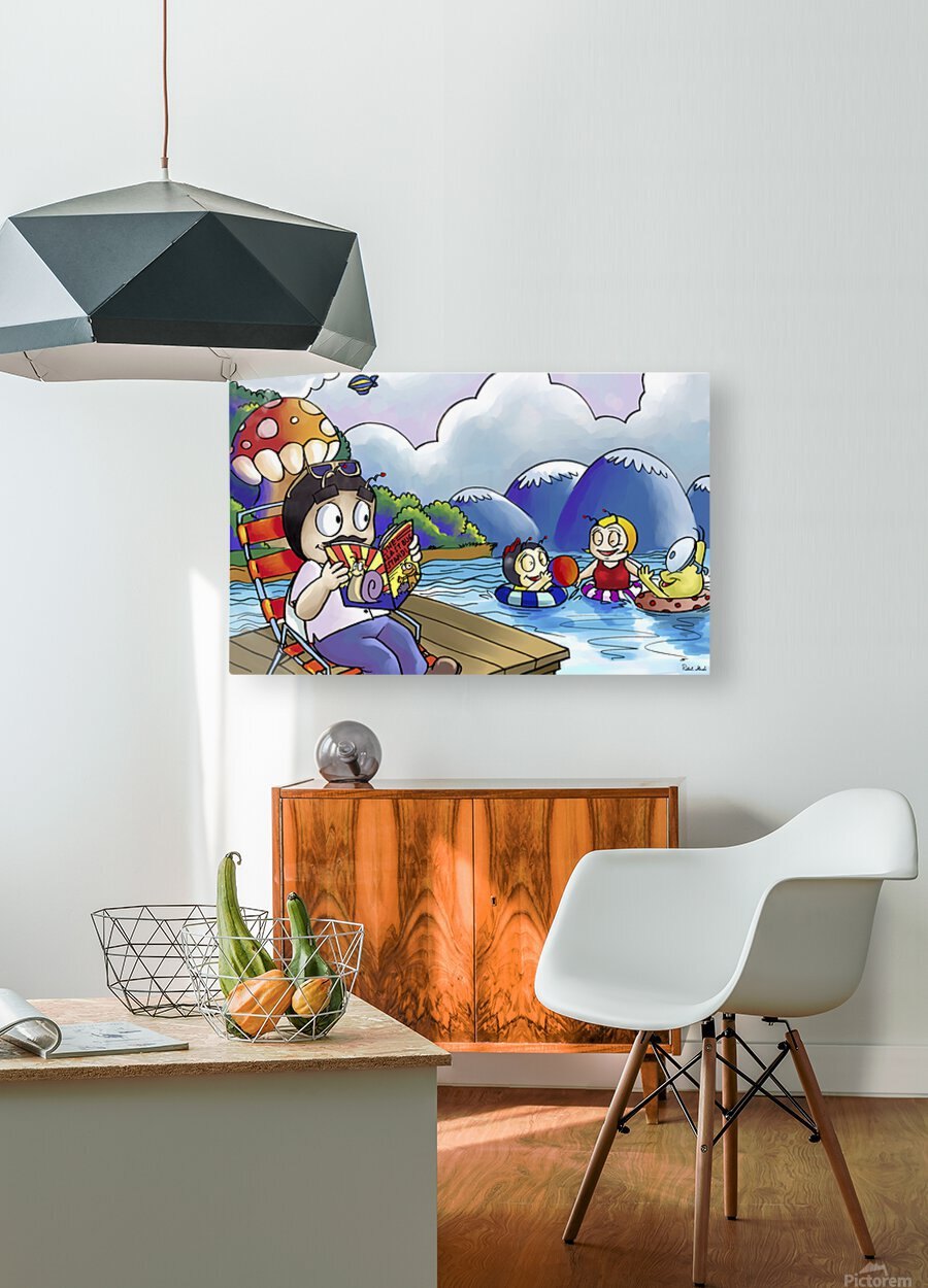 A Dream of Summer - Swim  HD Metal print with Floating Frame on Back