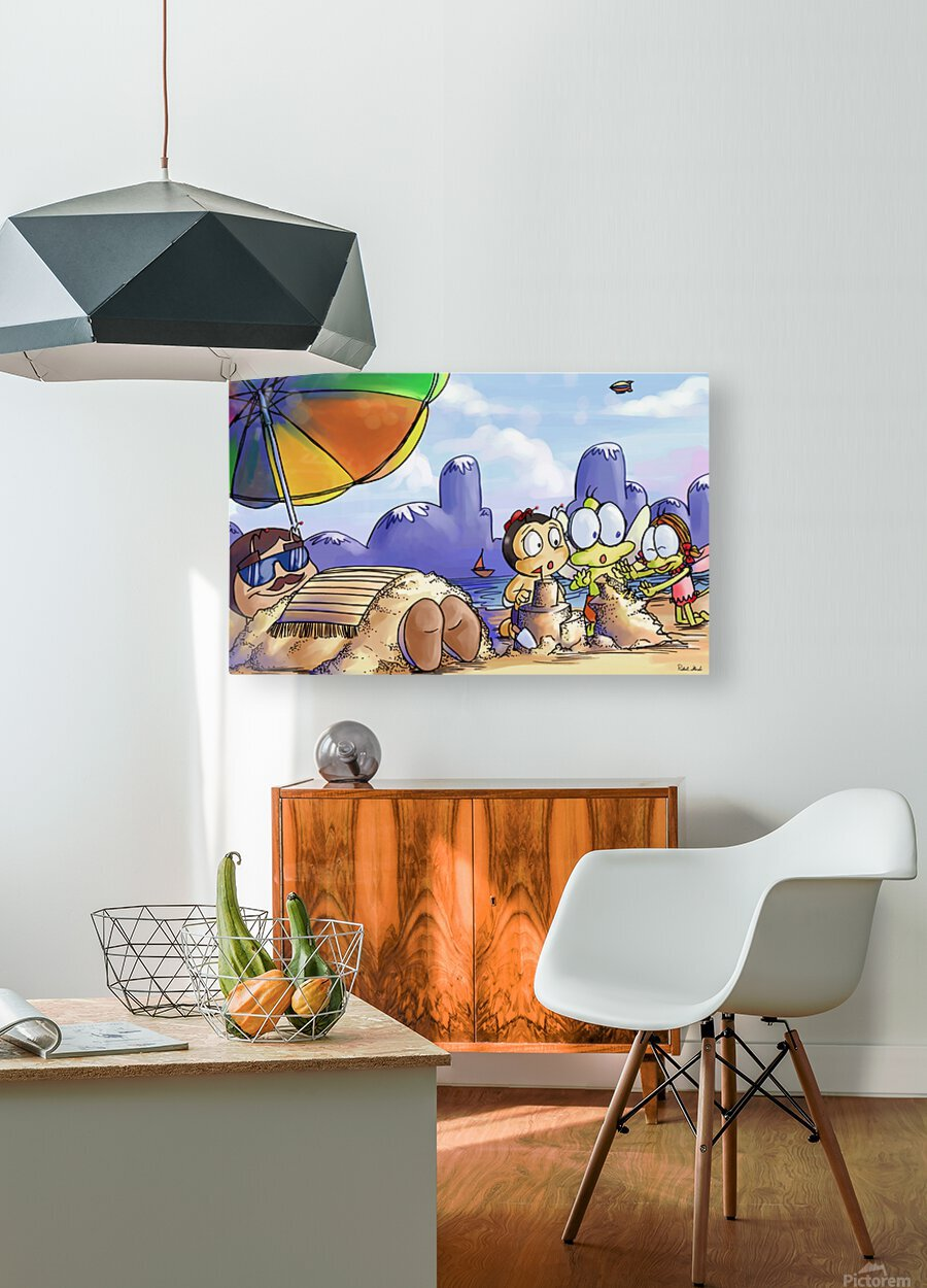 A Dream of Summer - Day at Beach  HD Metal print with Floating Frame on Back