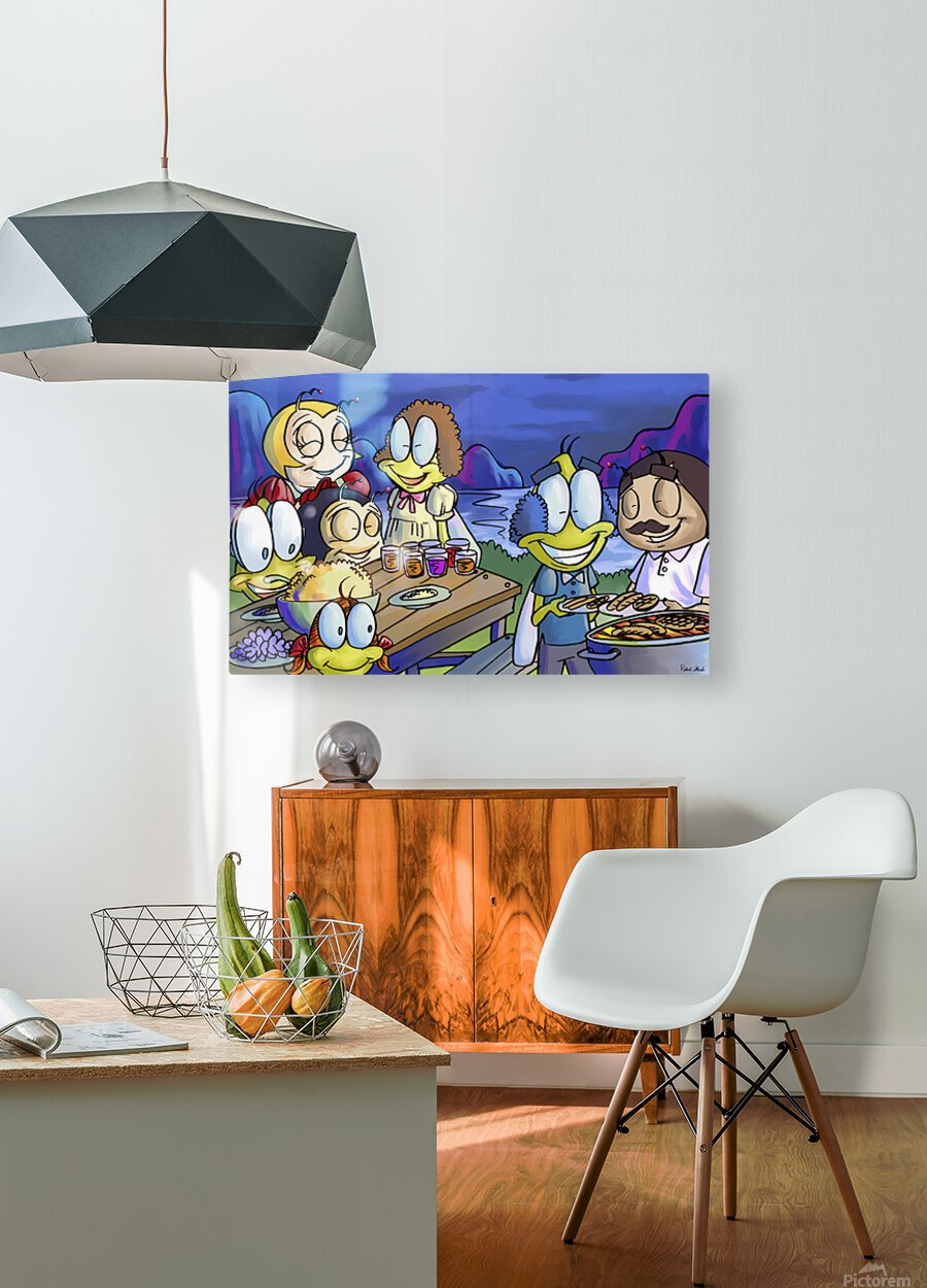 A Dream of Summer - Family  HD Metal print with Floating Frame on Back