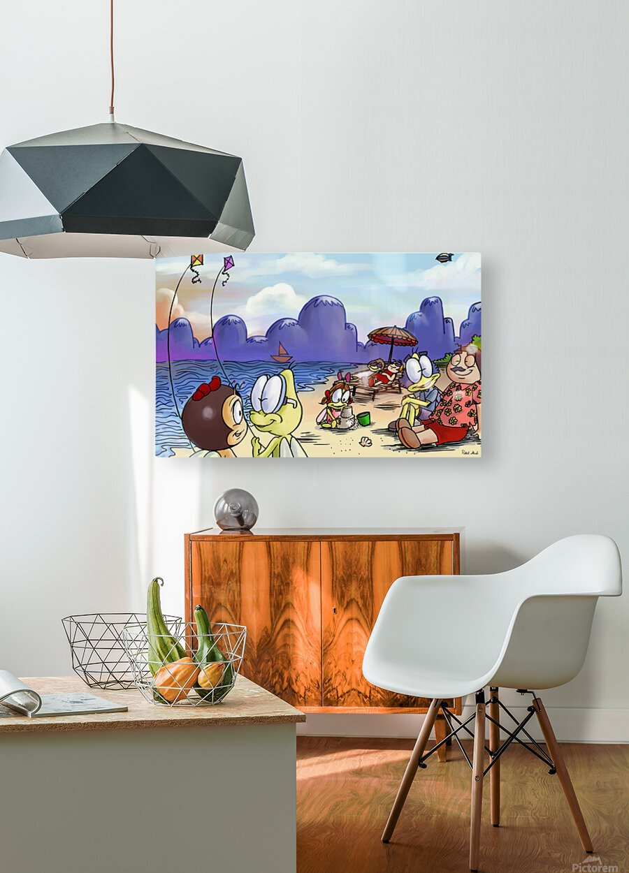 A Dream of Summer - Kites  HD Metal print with Floating Frame on Back