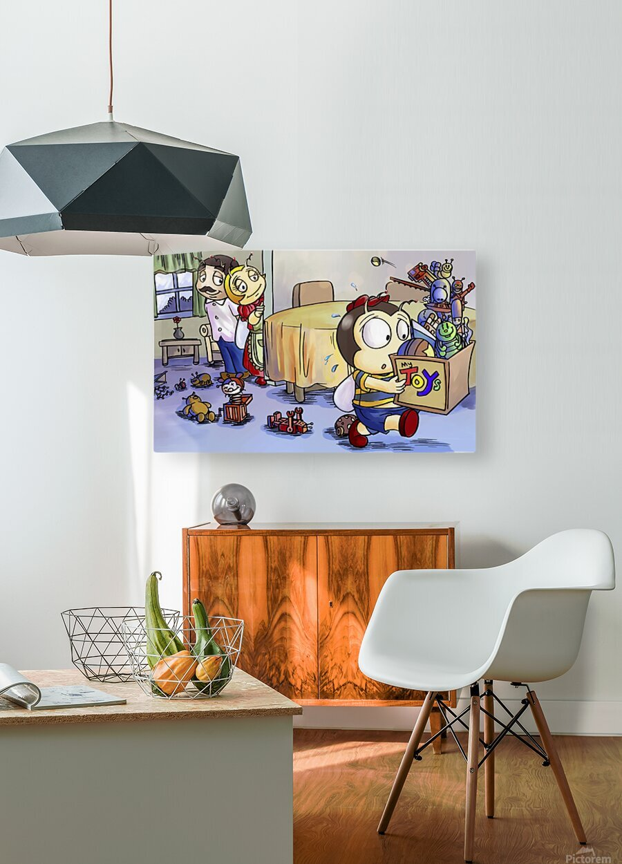 Toy Parade - marching  HD Metal print with Floating Frame on Back