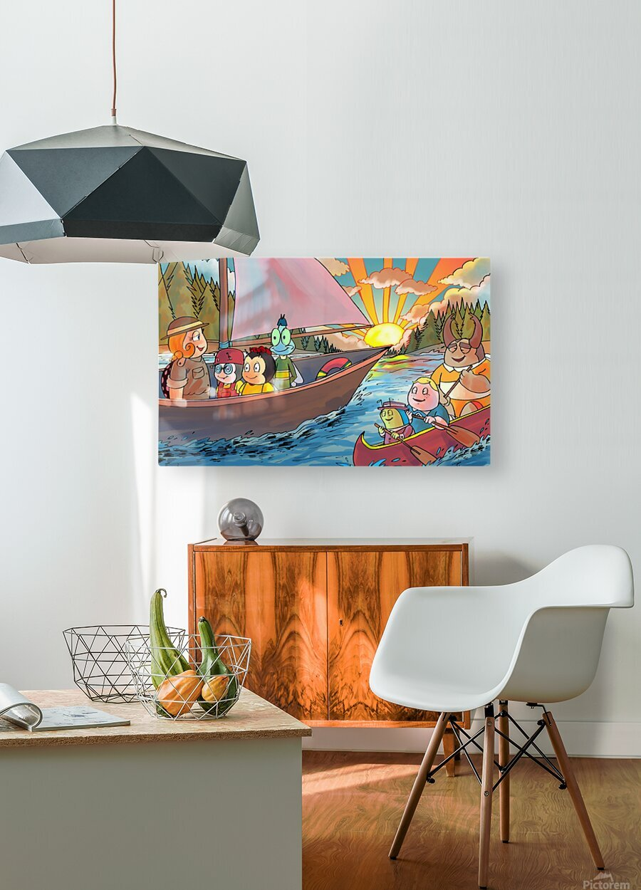 Summer Camp - Sailing  HD Metal print with Floating Frame on Back