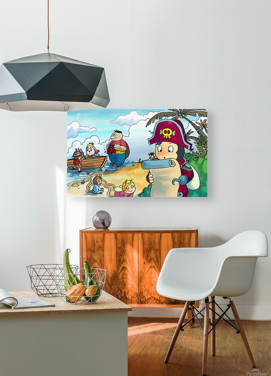 Treasure map  HD Metal print with Floating Frame on Back