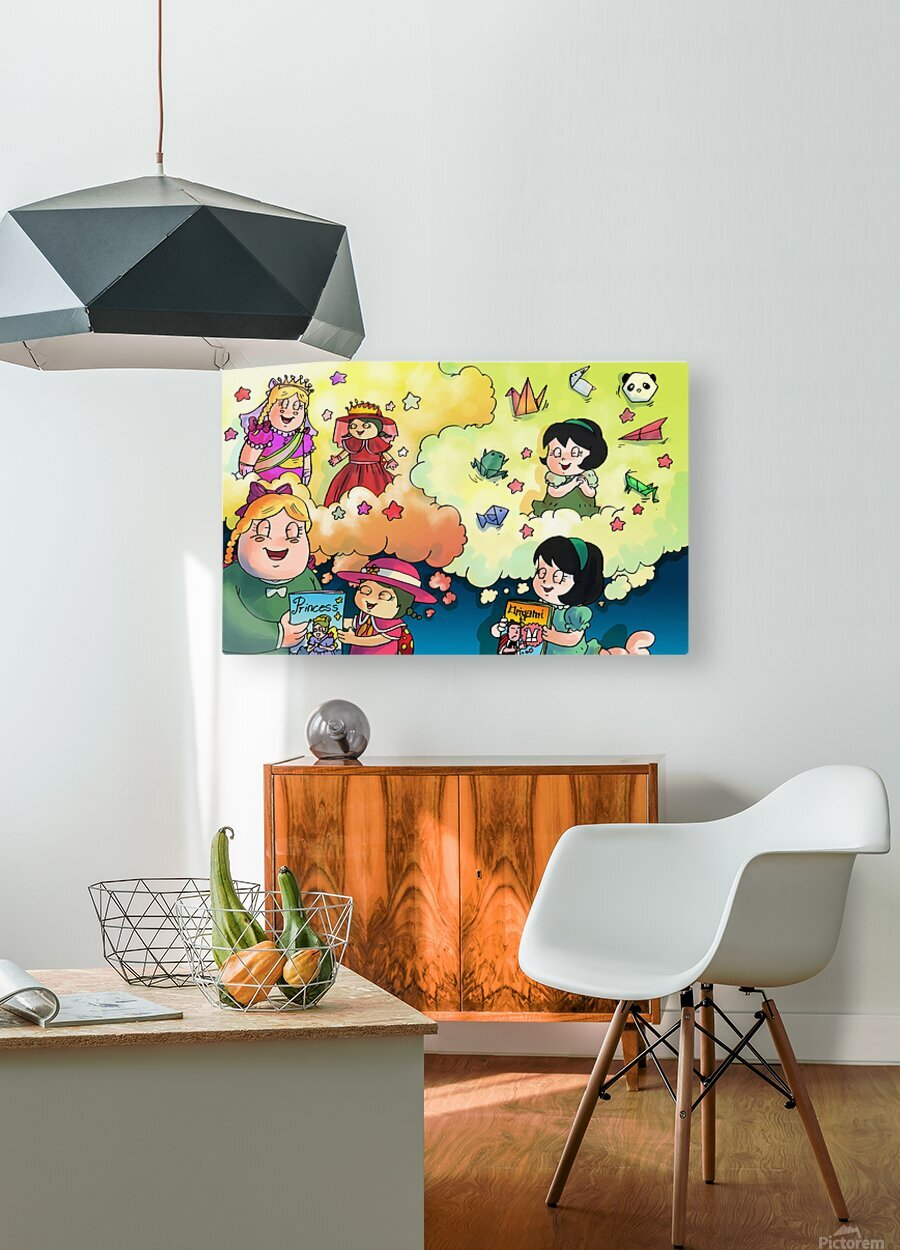 Library Daydreams   HD Metal print with Floating Frame on Back