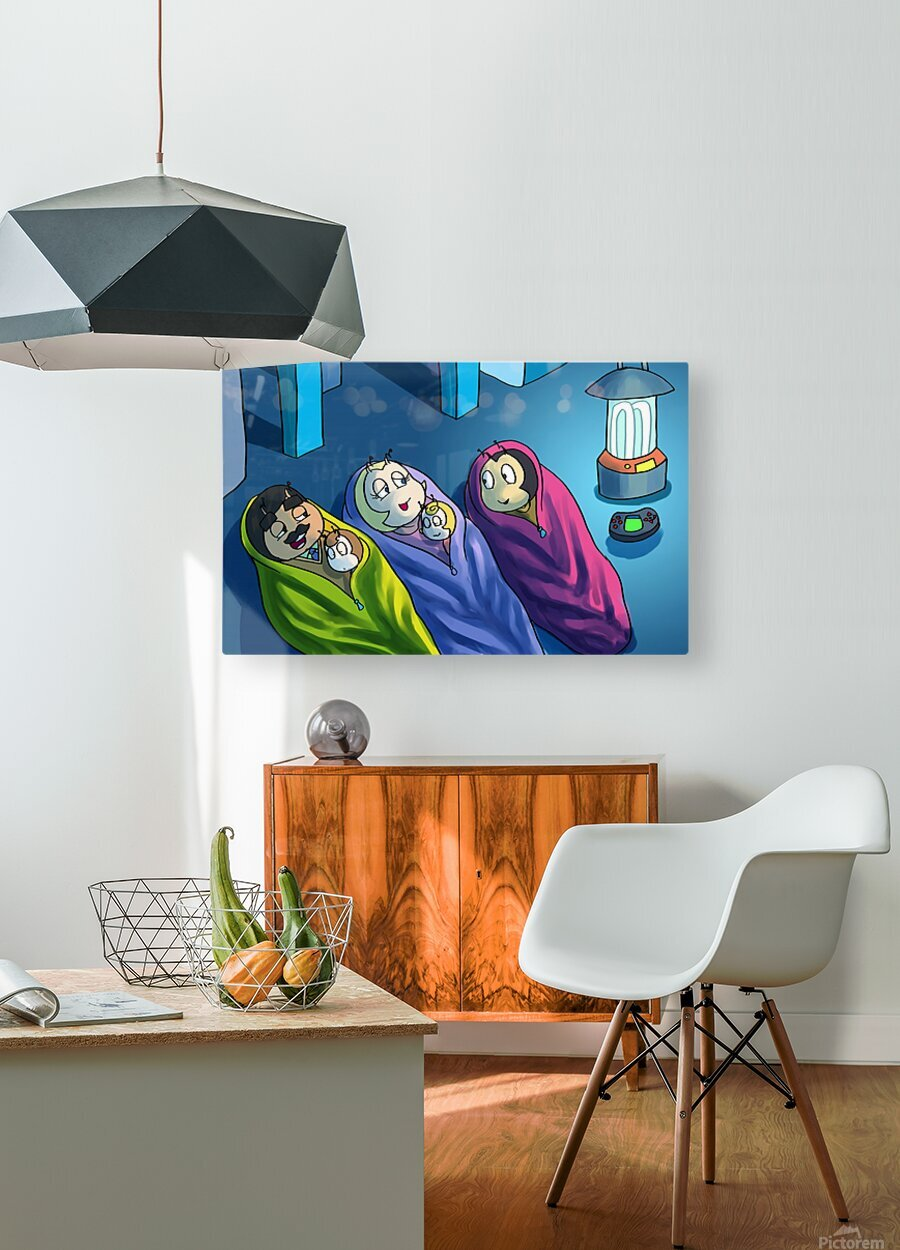 Staying In - Bedtime  HD Metal print with Floating Frame on Back