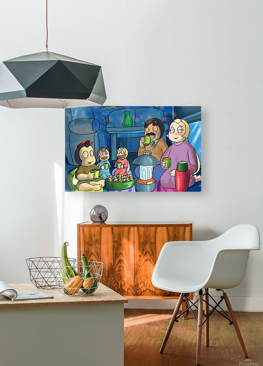 Staying In - Power outage  HD Metal print with Floating Frame on Back