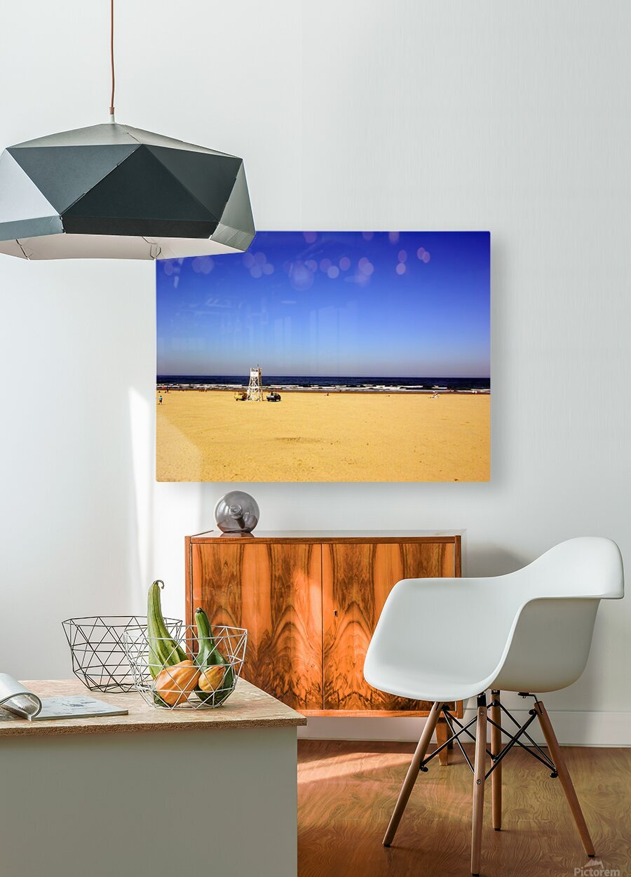 Oregon Coast   Golden Sands  HD Metal print with Floating Frame on Back
