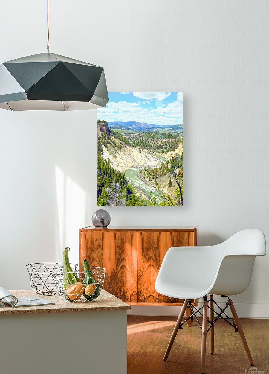 Wild Yellowstone  HD Metal print with Floating Frame on Back