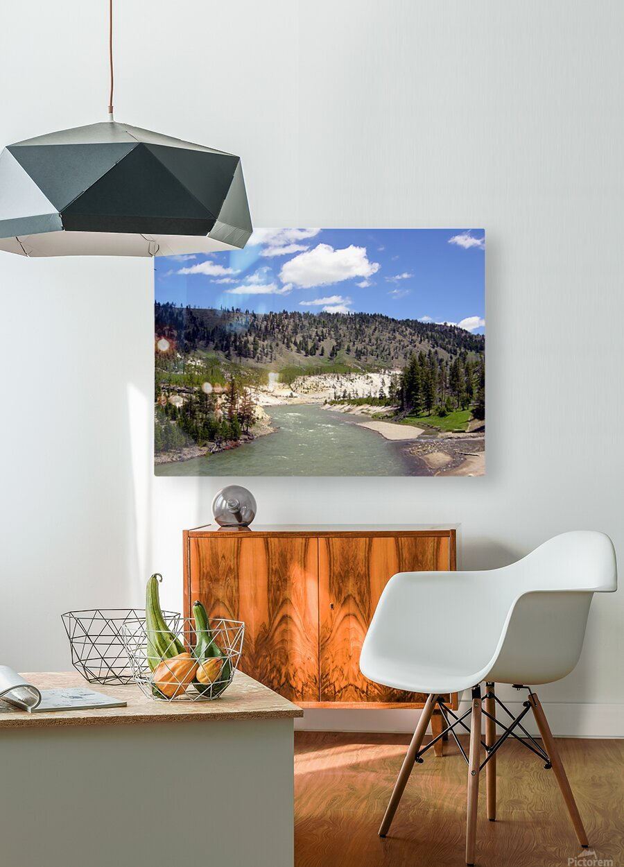 Yellowstone National Park 3  HD Metal print with Floating Frame on Back