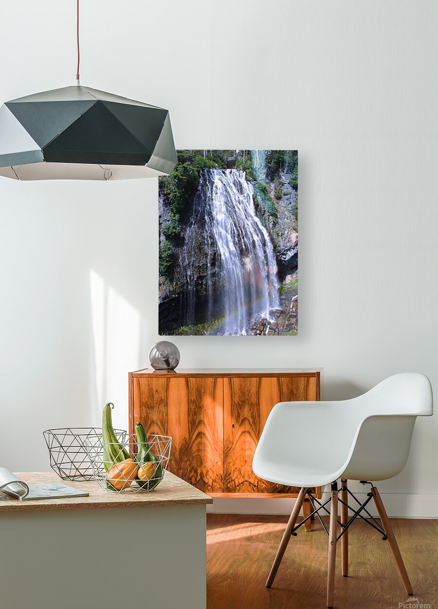 Narada Falls at Mount Rainier Pacific Northwest  HD Metal print with Floating Frame on Back