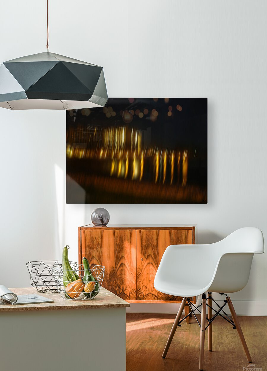 Lights  HD Metal print with Floating Frame on Back
