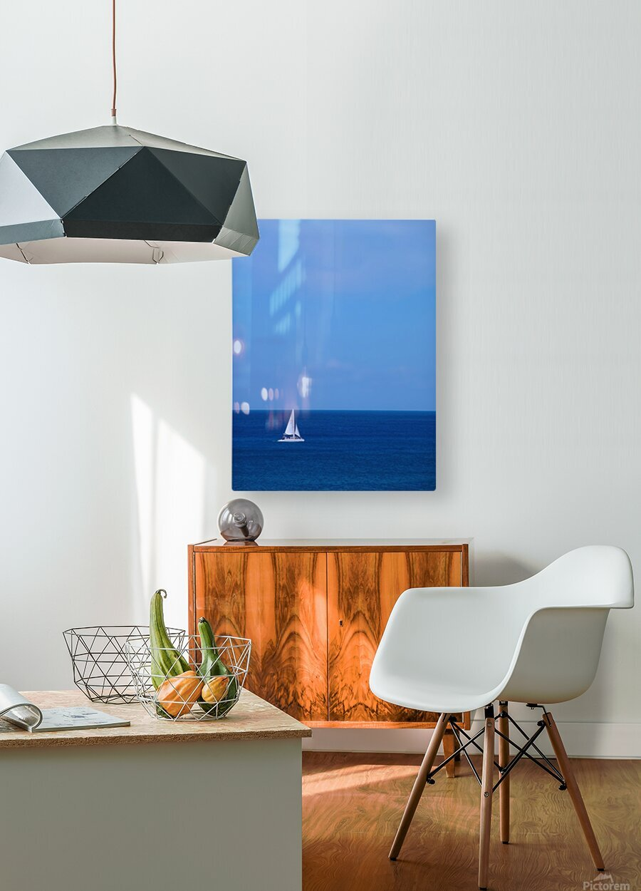 Blue Day  HD Metal print with Floating Frame on Back