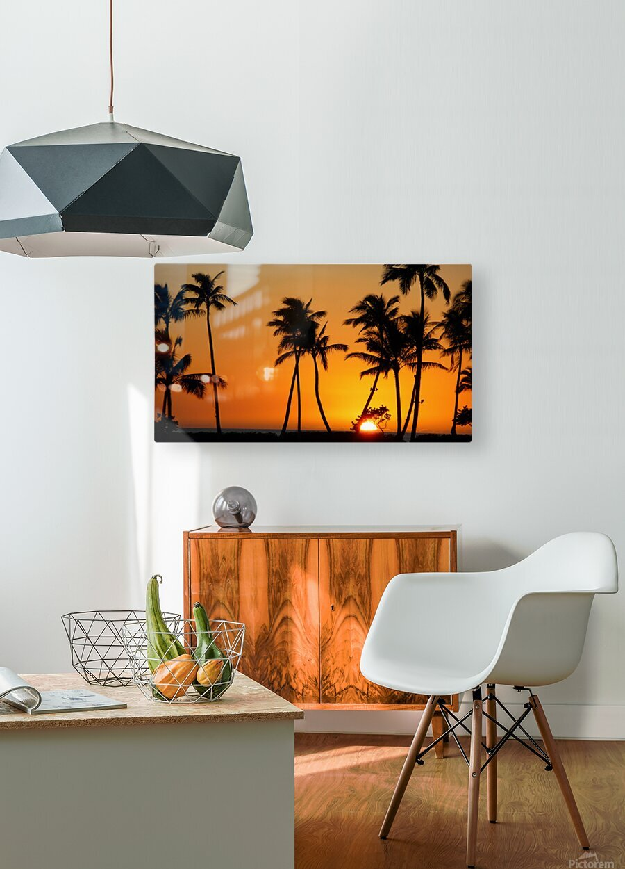 Golden  HD Metal print with Floating Frame on Back