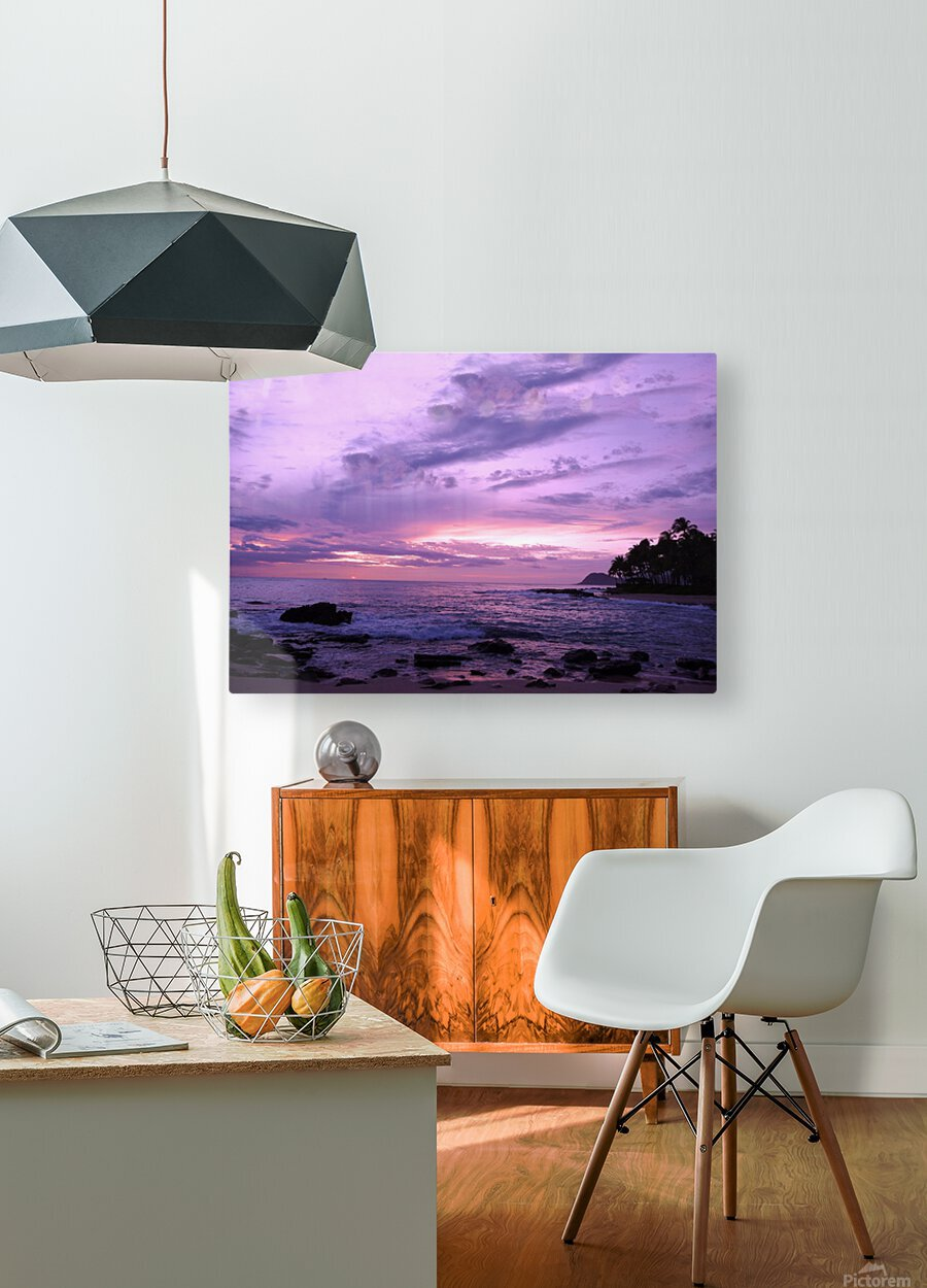 Purple Skies Over Hawaii  HD Metal print with Floating Frame on Back