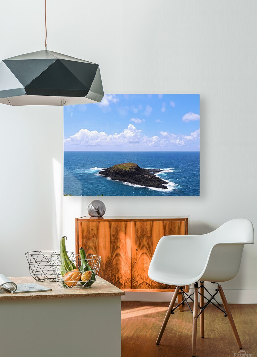 Secret Island  HD Metal print with Floating Frame on Back