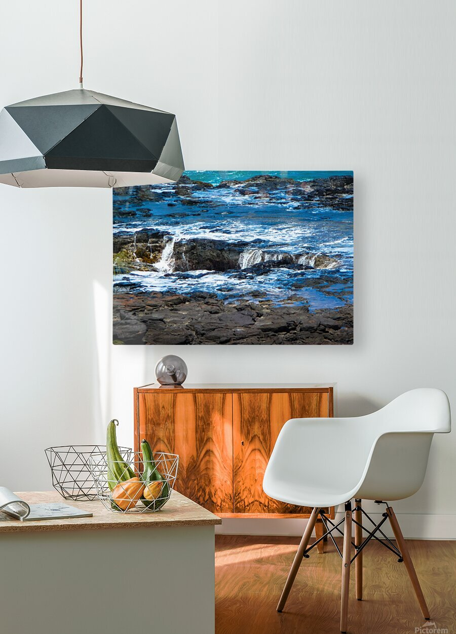 At the Bay  HD Metal print with Floating Frame on Back