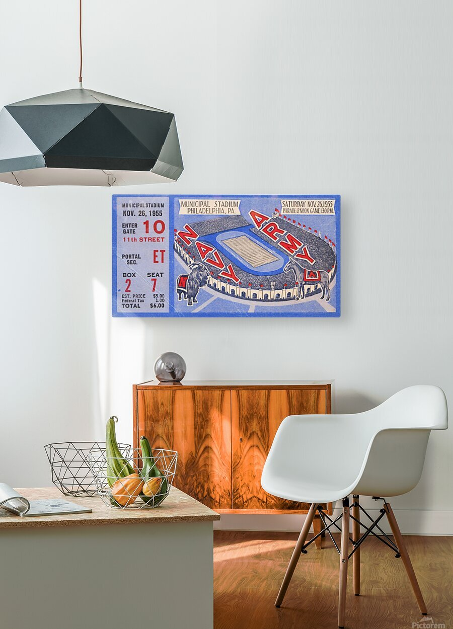 1955 Army Navy  HD Metal print with Floating Frame on Back