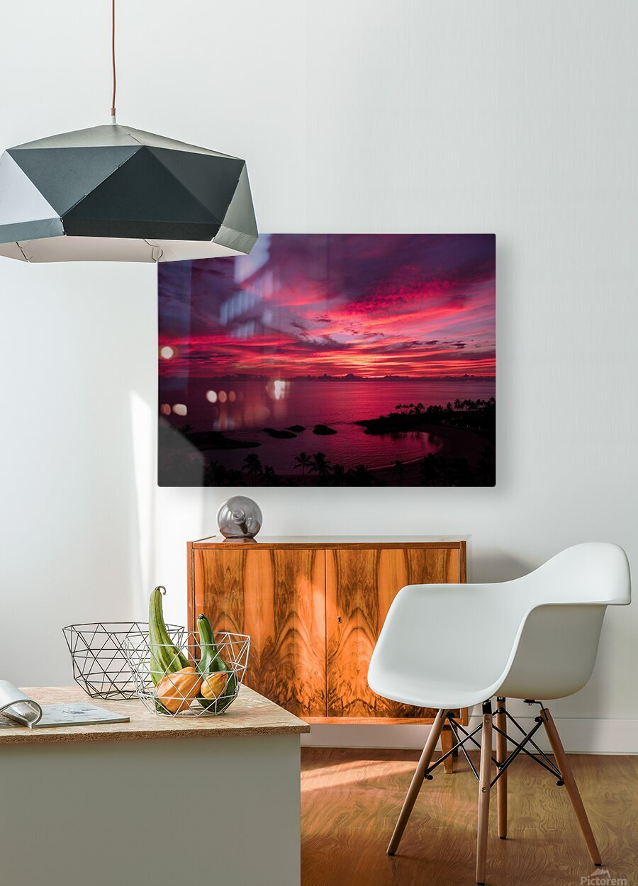 Bliss  HD Metal print with Floating Frame on Back