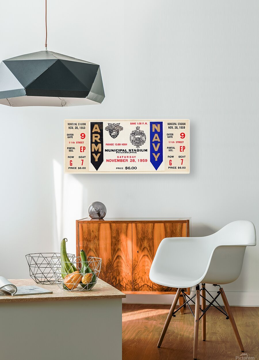 1959 Army Navy Game Ticket  HD Metal print with Floating Frame on Back